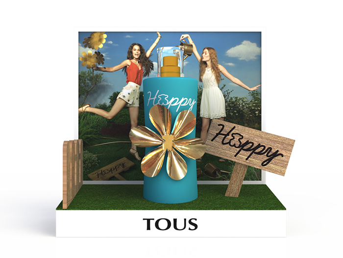 Expositor glorificador perfume TOUS Happy Moments