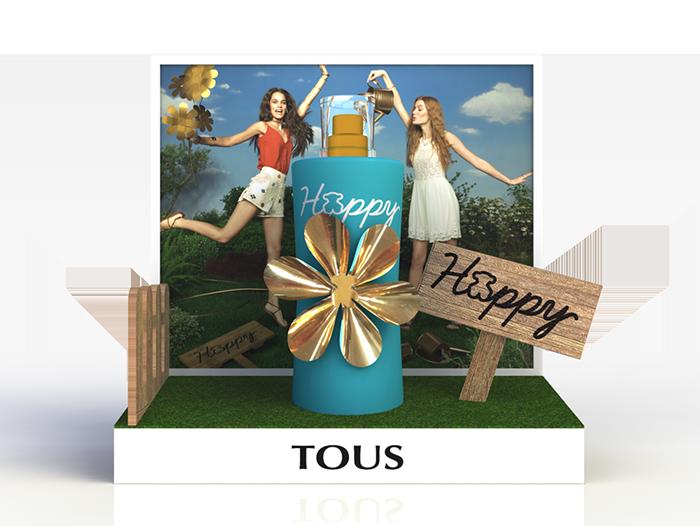 Expositor glorificador perfume TOUS Happy Moments