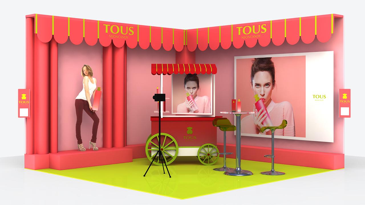 Diseño y Publicidad | Tous | Bocetos 3d | plv