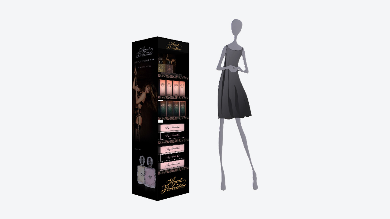 Display expositor | perfumes | PLV | marketing retail | Diseño y Publicidad | Agent Provocateur