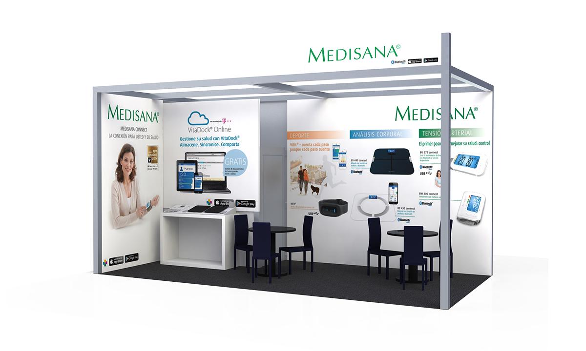 Medisana | Stand modular | Diseño y Publicidad | Melco 2016