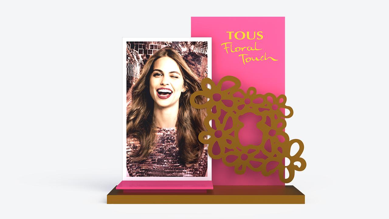 Escaparate cartón | Perfume Tous Floral Touch | Diseño y publicidad | plv