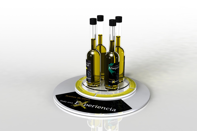 Expositor display aceites de oliva | display | diseño y publicidad | Expertos en PLV