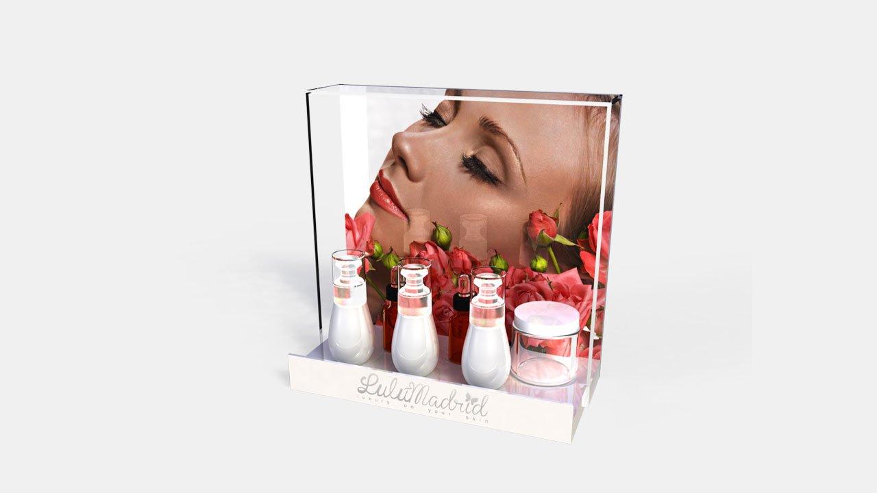 Display | Expositor de mostrador | mostrador de cremas | lulu | Diseño y Publicidad