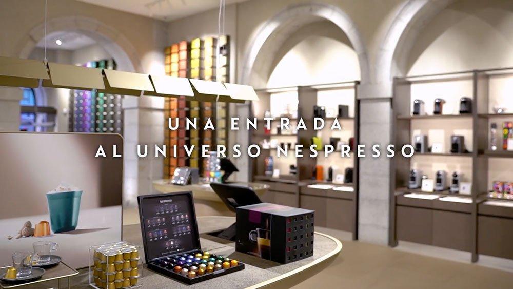 Nespresso nueva tienda en Madrid. Marketing retail experiencial. Diseño y Publicidad. PLV. Visual merchandising