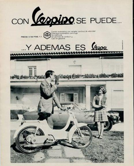 El ciclomotor Vespino cumple 50 años. Diseño y Publicidad.