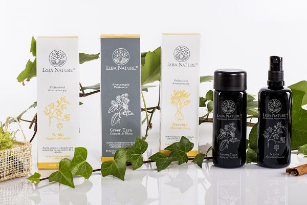IZBA NATURE · Packaging aceites corporales