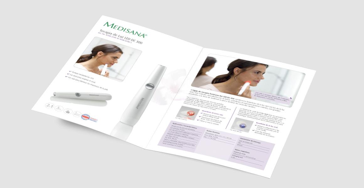 Maquetación y producción sales folder Medisana.