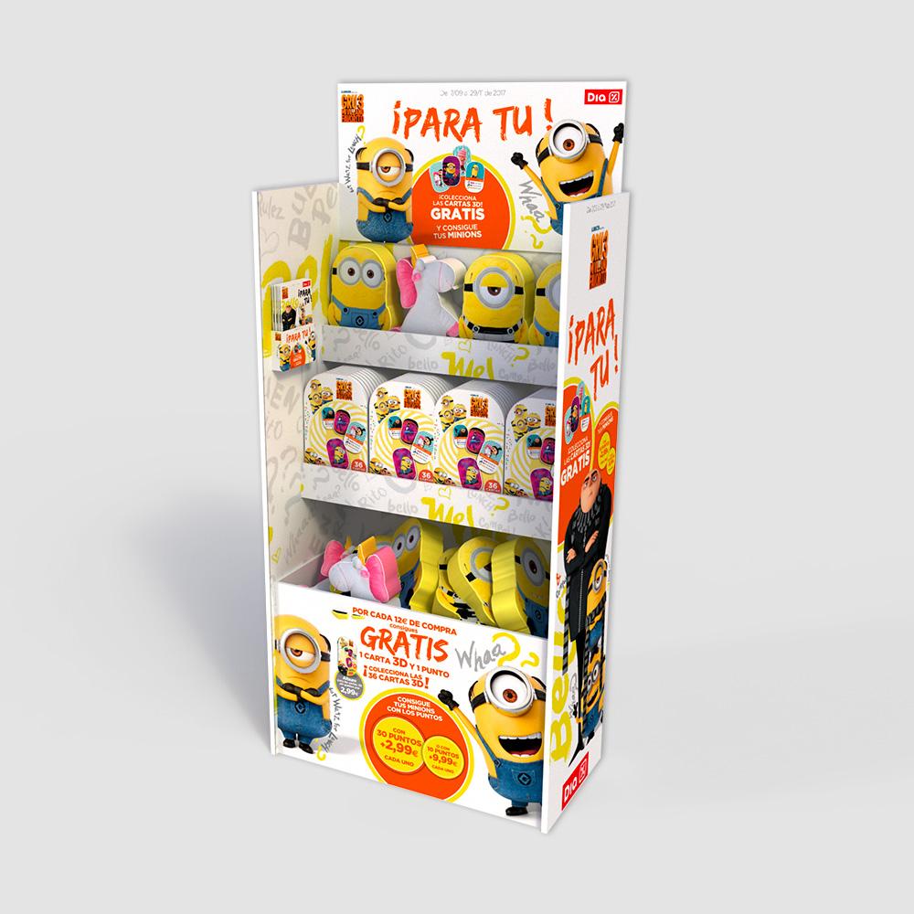 Expositores promoción Minions